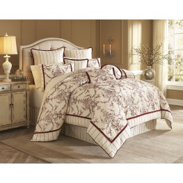 Hidden Glen Natural 9 piece Queen Comforter Set