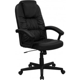 Embroidered High Back Black Executive Swivel Office Chair (Min Order Qty Required)