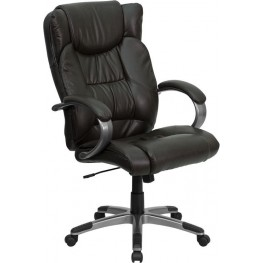 High Back Espresso Brown Upholstery Executive Swivel Office Chair (Min Order Qty Required)