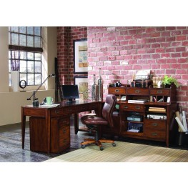Danforth Brown Executive Leg Home Office Set