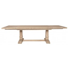 Hudson Stone Wash Rectangular Extendable Trestle Dining Table