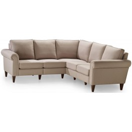 Avery Bisque Two Corner Two Sectional