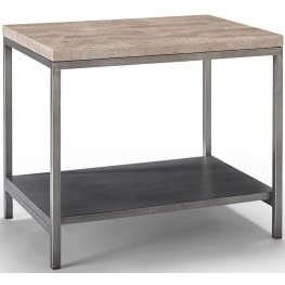Sawyer Travertine Bunching Table