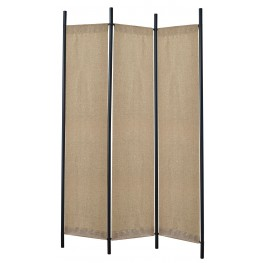 Rita Black And Chrome Folding Screen