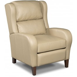 Camber Beige Leather Recliner