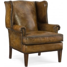 Blakeley Brown Leather Club Chair