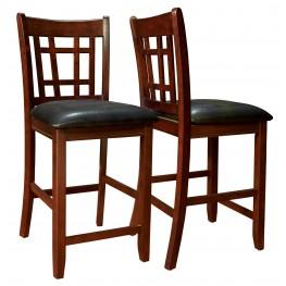 1156 Cappuccino / Black Pub Chair Set of 2