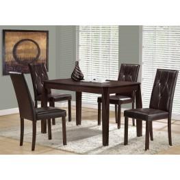 1180 Cappuccino Veneer Dining Room Set