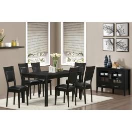 1491 Cappuccino Ash Veneer Extendable Dining Room Set
