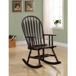 1523 Cappuccino Arrow Windsor Back Rocking Chair