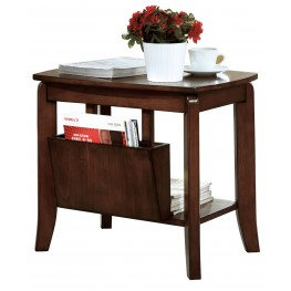 1579 Walnut Solid-Top Magazine Table