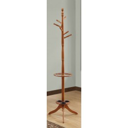 "Oak 71"" Coat Rack"