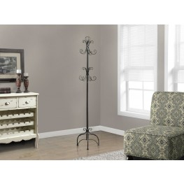"Chocolate Brown Metal 72"" Coat Rack"