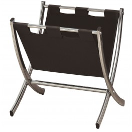 2034 Black / Chrome Metal Magazine Rack