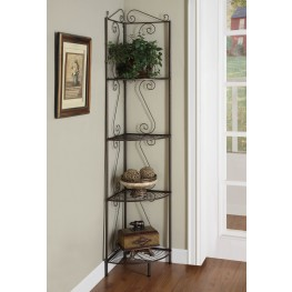 "2100 Copper Metal 70"" Corner Display Etagere"