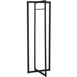 "2150 Black Metal 72"" Coat Rack"