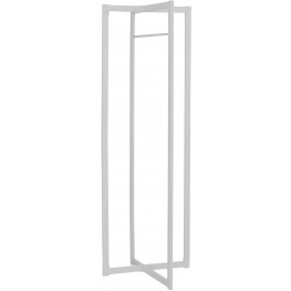 "2151 White Metal 72"" Coat Rack"