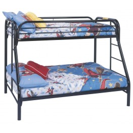 Black Metal Twin Over Full Bunk Bed