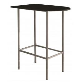 2335 Black / Silver Metal Spacesaver Bar Table