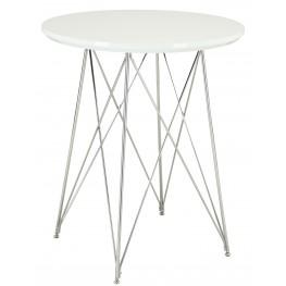 2346 Glossy White / Chrome Metal Bar Table