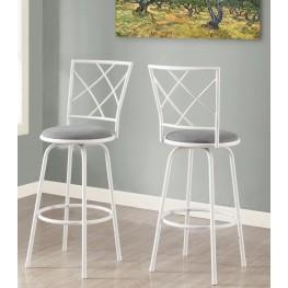 Gray Fabric Seat Barstool Set of 2