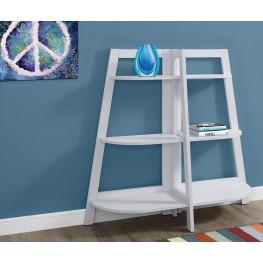 """48"""" White Accent Bookcase"""