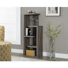"Dark Taupe Reclaimed-Look 48"" Accent Display Unit"
