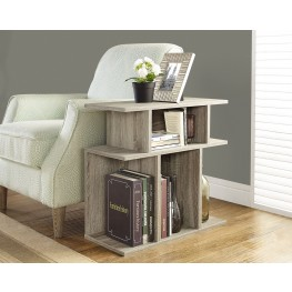 "Dark Taupe Reclaimed-Look 24"" Accent Side Table"