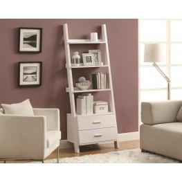 """2562 White 69"""" Ladder Bookcase"""