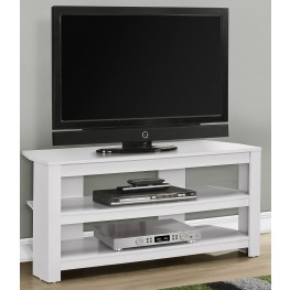 "White 42"" Corner TV Stand"
