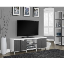 White/gray Hollow-Core TV Console