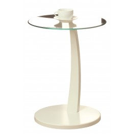 3017 White Bentwood Accent Table