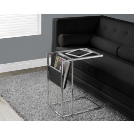 Black/Chrome Metal Accent Table