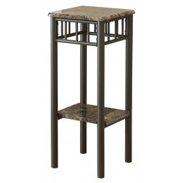 3044 Cappuccino Marble / Bronze Metal Plant Stand