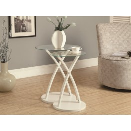 3051 White Bentwood 2Pcs Nesting Tables
