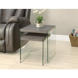 3053 Dark Taupe 2Pcs Nesting Tables