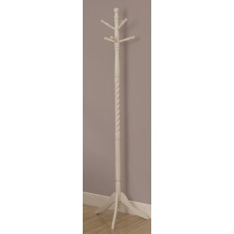 3057 Antique White Solid Wood Coat Rack
