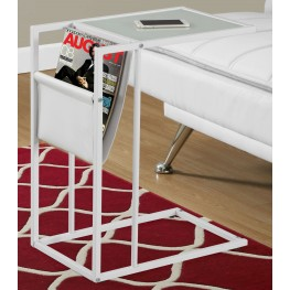 3067 White Metal Accent Table