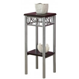 3074 Cappuccino / Silver Metal Plant Stand