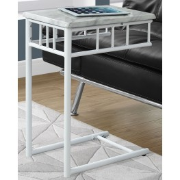 White Marble Top Accent Table