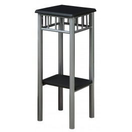 3094 Black / Silver Metal Plant Stand