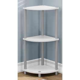 White and Black Reversible Accent Table