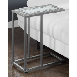 Gray Snack Accent Table