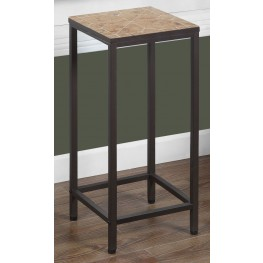 Terracotta Tile Top Square Accent Table