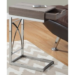 3173 Dark Taupe Drawer Accent Table