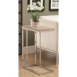 3203 Natural / Chrome Metal Accent Table
