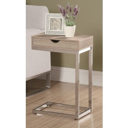 3204 Natural / Chrome Metal Accent Table