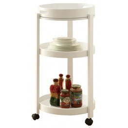 3345 White Bar Cart