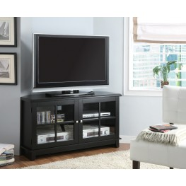 "3540 Black Veneer Top 48"" Corner TV Console"