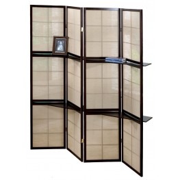 4624 Cappuccino 4 Panel Folding Screen